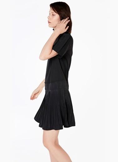 Kısa Kollu Kloş Elbise-Twist